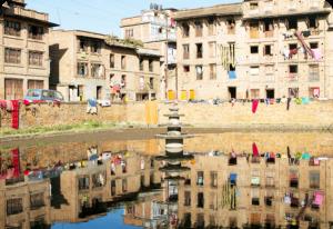 photo d'une retenue d'eau urbaine