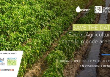 SAVE THE DATE - 24 juin 2021- Eau et agriculture dans le monde arabe